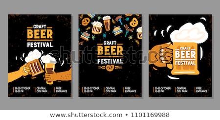 Oktoberfest background. Beer wallpaper. Stock photo © Hermione