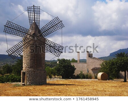 classic windmills from balearics in Palma de Majorca Stock photo © lunamarina