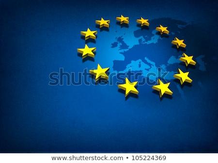 grunge flag of european union stock photo © orson