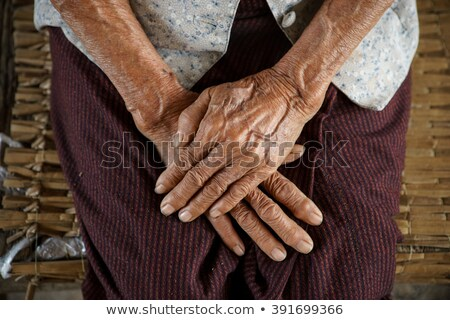Old Ladies hands clasped  Stock photo © fenton