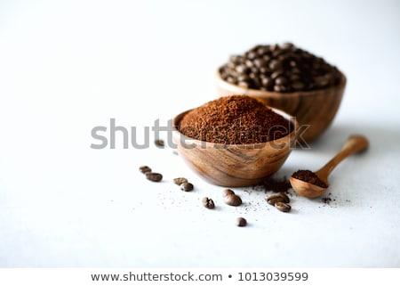 растворимый кофе черный завтрак ложку макроса утра Сток-фото © leeser