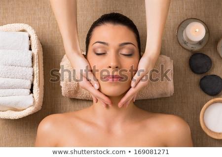 Female Facial Salt Scrub Stock photo © lovleah