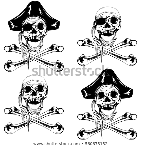 skull with skeleton bones piratic symbol Stock photo © LoopAll
