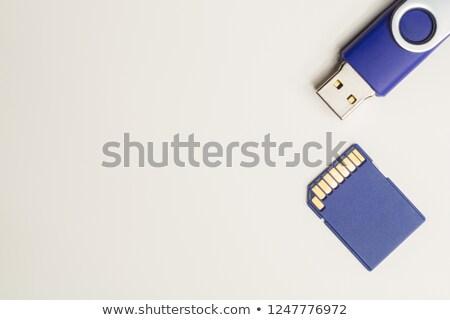 Usb ricordo carta tecnologia elettronica protezione Foto d'archivio © jossdiim
