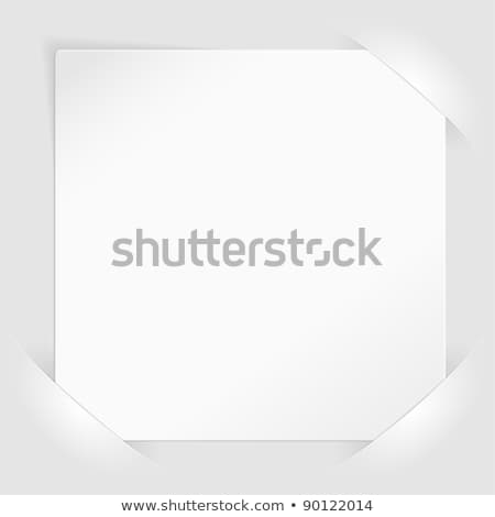 Sheet of white paper mounted in pockets Stock photo © -TAlex-