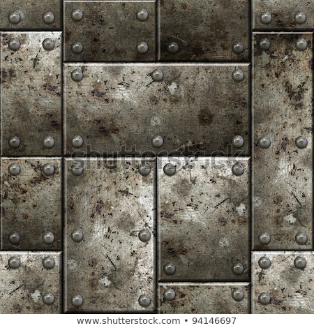 Stock photo: Armor seamless background.