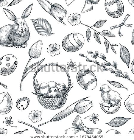 Foto stock: Aves · huevos · Pascua · naturaleza · diseno · conejo