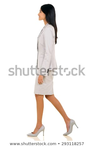 Side view of pretty young female executive Stock photo © stockyimages