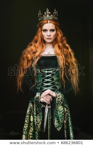 bela · mulher · vestido · estúdio · retrato · menina · luz - foto stock © Pilgrimego