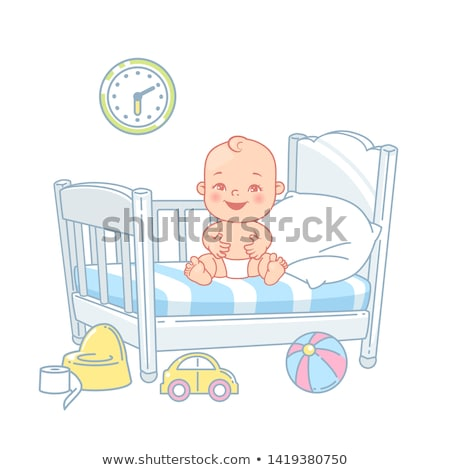 Potty Time - Baby Vector Illustration Stock photo © indiwarm