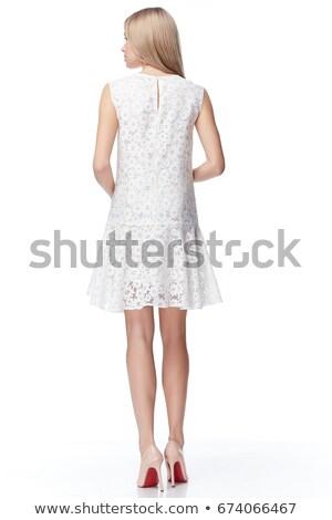 gyönyörű · fiatal · szőke · elegáns · smink · portré - stock fotó © lithian