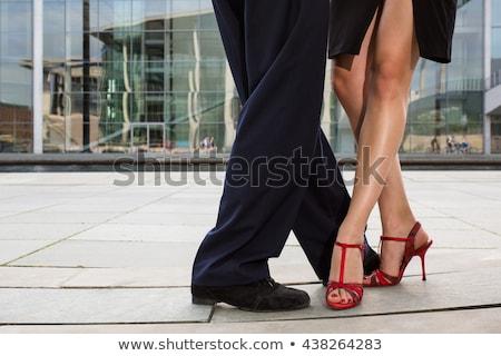 csábítás · tánc · gyönyörű · táncosok · előad · tangó - stock fotó © blanaru