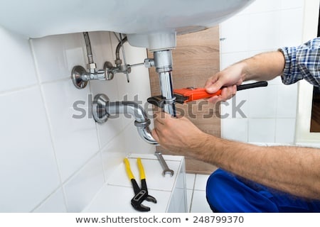 Encanadores escritório homem trabalhar Foto stock © photography33