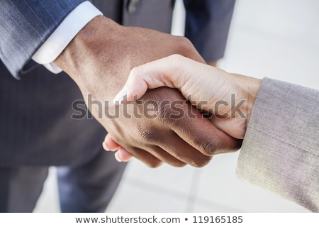 Smart suited man and woman shaking hands Stock photo © photography33