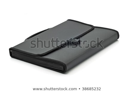 Black Plastic Folder For Documents Stok fotoğraf © Arsgera