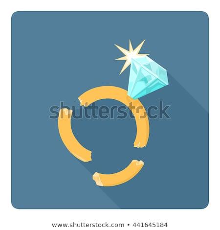 Divorce ring , vector illustration Stock photo © carodi
