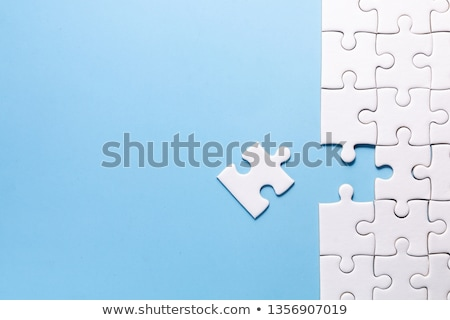 Que falta pieza 3d rompecabezas negocios diseno Foto stock © ajn