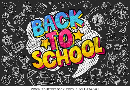 Back to school  Background with books and apple  vector illustration Stock photo © carodi
