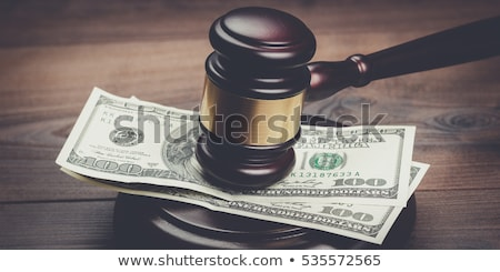 Gabela dinheiro dólares tribunal Foto stock © broker