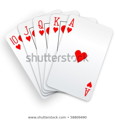 flush hearts in poker Stock photo © compuinfoto