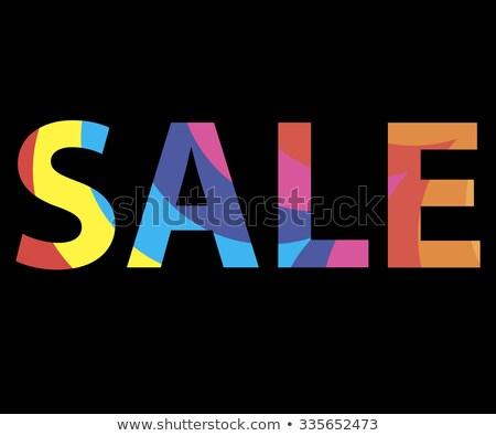 Cor venda reflexão 3D caixas branco Foto stock © marinini