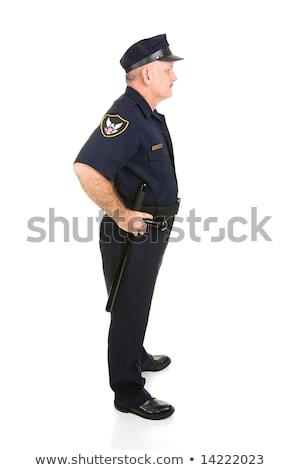 Police Officer Full Body Profile Stock photo © lisafx