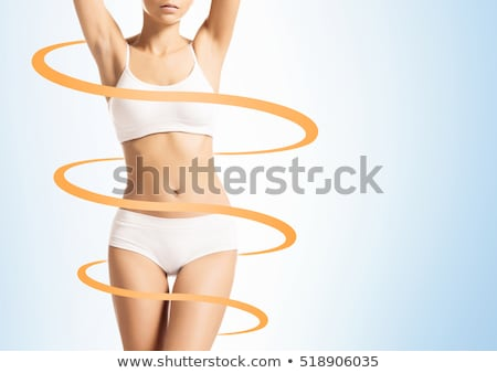 Stok fotoğraf: Mükemmel · ince · kadın · vücut · genç · güzel