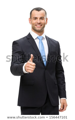 Half length of successful business man with thumbs up  Stock photo © get4net