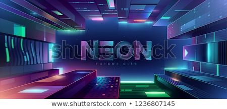 neon light vector background with waves Stock photo © experimental