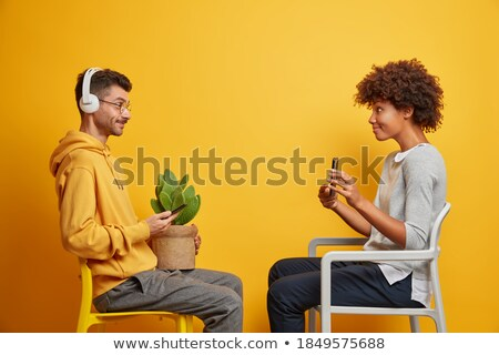 couple listening to music via headphones stock photo © photography33
