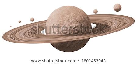 太陽系 · 孤立した · 惑星 · 白 · 要素 · 画像 - ストックフォト © mariephoto
