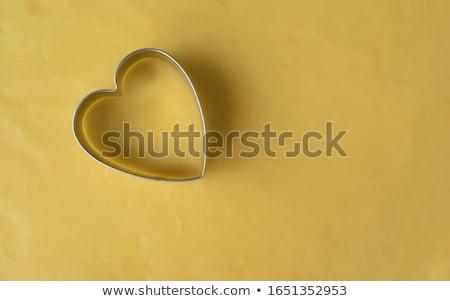 сердце · Cookie · пряничный · покрытый · молоко - Сток-фото © danielgilbey