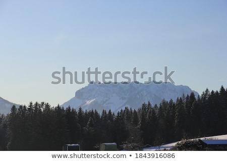 dağlar · Avusturya · sonbahar · Bina · yeşil · mavi - stok fotoğraf © haraldmuc