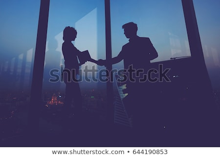 Businessman shaking hands with his new secretary Stock photo © photography33