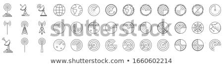 Radar icona illustrazione bianco design abstract Foto d'archivio © dvarg
