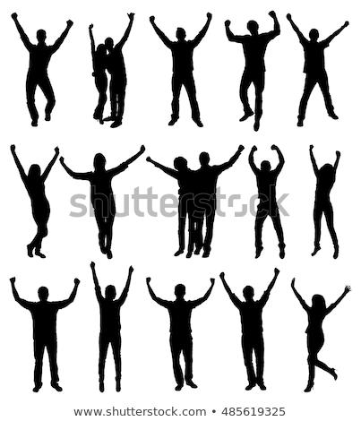 mannelijke · danser · zijaanzicht · jonge · dans - stockfoto © feedough
