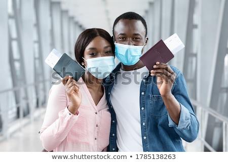 americano · passaporte · moeda - foto stock © Goldcoinz