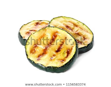 Fresh marrow vegetable. Isolated on white background Stock photo © ozaiachin