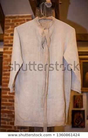Hímzés vászon póló darab divat szövet Stock fotó © vrvalerian