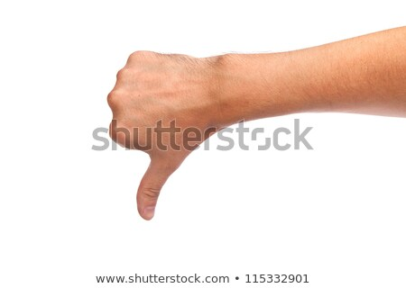 Male hand with a thumb down. Negative attitude, fail concept stock photo © Len44ik