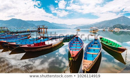 phewa lake pokhara nepal stock photo © dutourdumonde