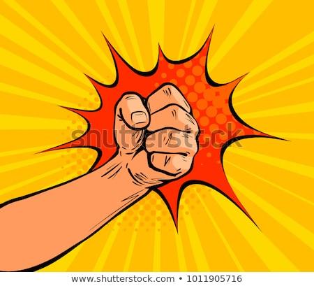 Cartoon Hand - Crush Gesture - Vector Illustration stock photo © indiwarm