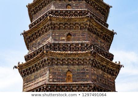 ancient iron buddhist pagoda kaifeng china stock photo © billperry