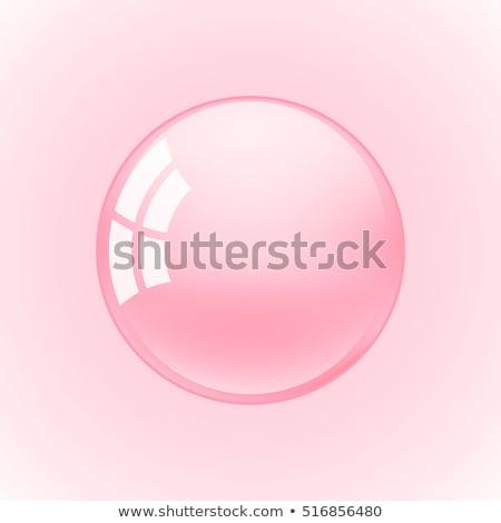 Stok fotoğraf: Pembe · kabarcıklar · çerçeve · şeffaf · banyo · sabun