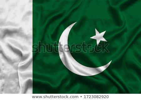ファブリック · テクスチャ · フラグ · パキスタン · 青 · 弓 - ストックフォト © maxmitzu