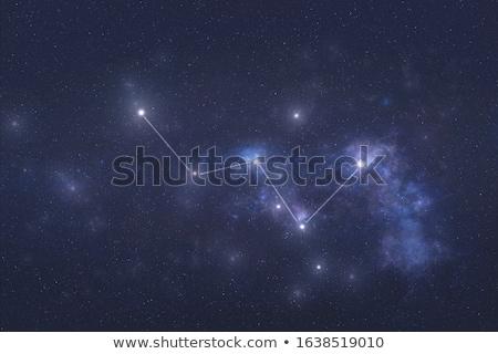 Görüntü takımyıldız soyut arka plan uzay mavi Stok fotoğraf © Kirschner