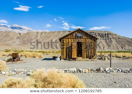 Spookstad Californië leveren punt gebouw woestijn Stockfoto © meinzahn