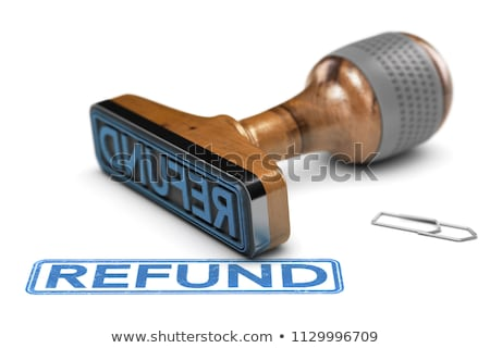 Stock photo: Refunded Rubber Stamp