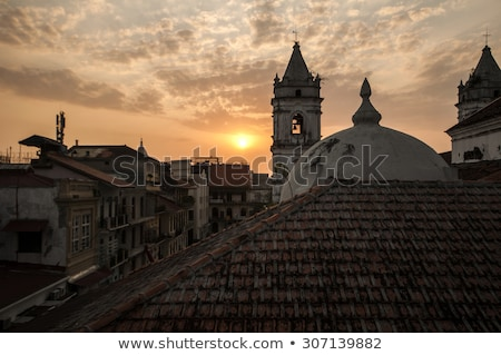panama city casco viejo in the sunset stock photo © dacasdo