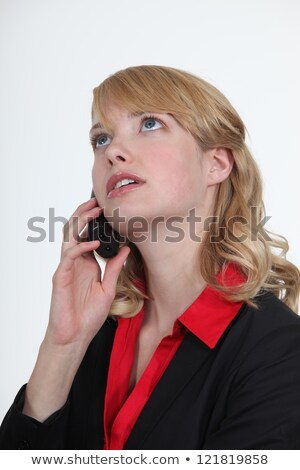 blond office becoming stressed during telephone call stock photo © photography33